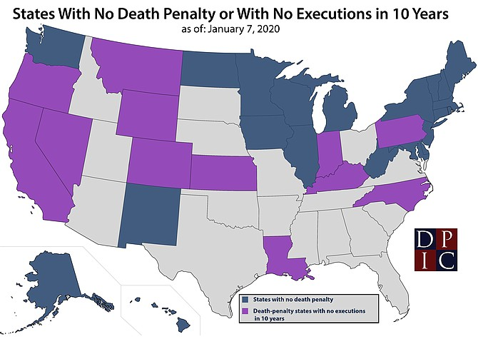 22 states have abolished the death penalty.