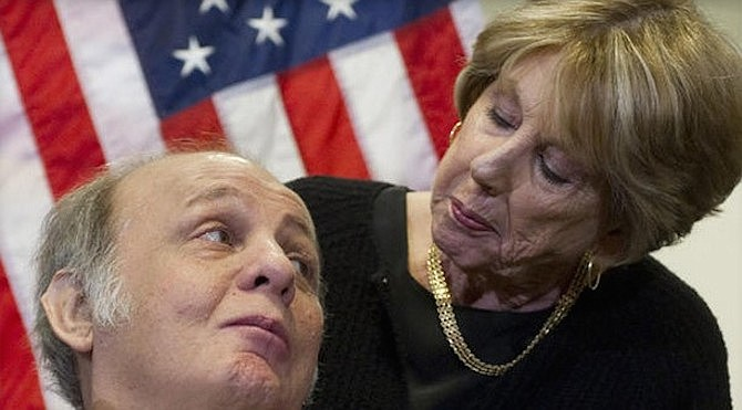 Gun control activist Sarah Brady, shown with her husband Jim Brady, was raised in Alexandria and taught elementary school in Old Town during the first years of integration.