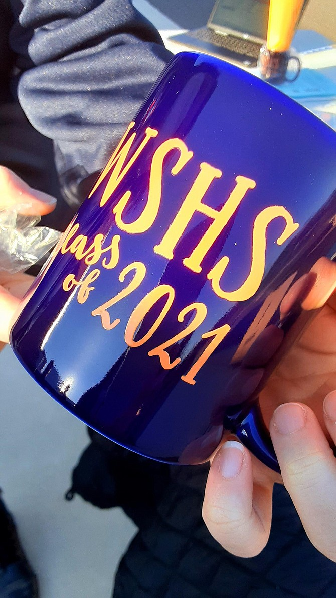 The official coffee mug at WSHS grad party fundraiser.