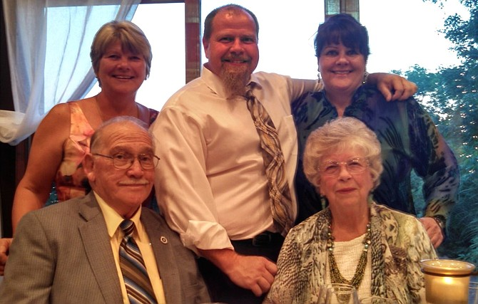 Julian and Jean Everly, seated, with Elizabeth Everly Shockley, Wilson Everly and Linda Everly Smith in a 2015 family photo.