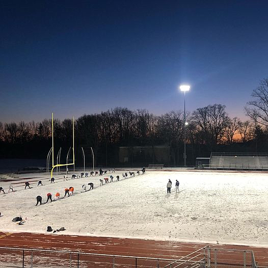 With high school football starting in February instead of September, the players might see snow on the gridiron.
