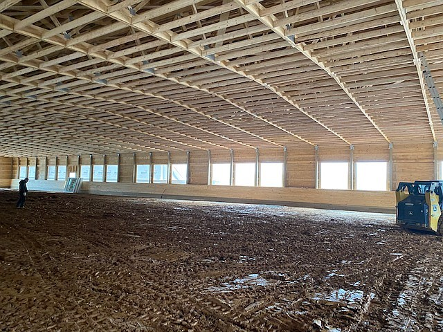 The new riding rink near Clifton will allow for therapeutic riding year around.