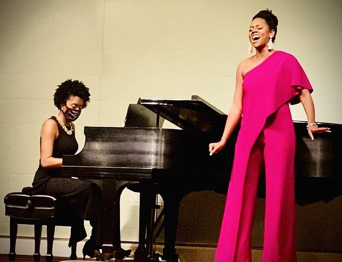 Simone Brown, soprano, and Sandy Lewanika, soprano and pianist.