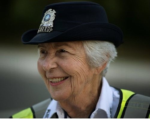 Retired Polk Elementary School crossing guard Charlotte Ross died Jan. 31 at the age of 95.