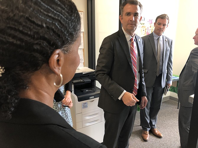 Gov. Ralph Northam during a visit to Alexandria in August 2019.