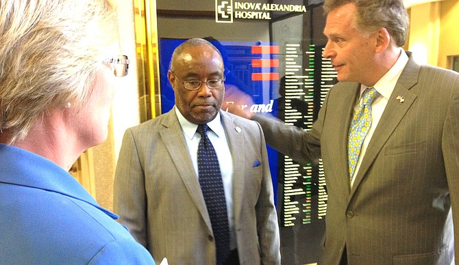 """Former Alexandria Mayor Bill Euille, left, is one of several Alexandria endorsements the McAuliffe campaign will soon announce. """"Terry has the experience and proven leadership to make sure we tackle the housing crisis Virginians will continue to face as we recover,"""" says Euille."""