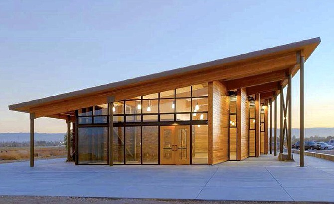The energy-efficient building will be constructed of reclaimed wood to reduce its carbon footprint.