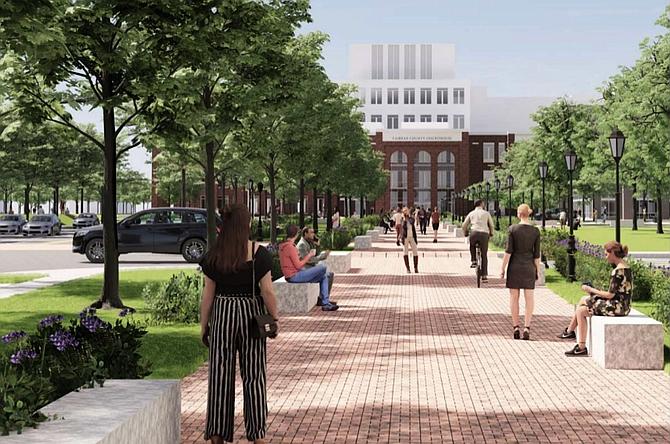 A ceremonial promenade will become a pedestrian gateway.