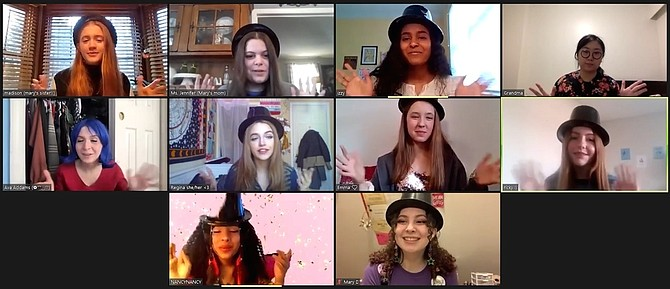 From left top: Julia Toloczko, Scarlett Spano, Keya Umesh, Erin Young; middle: Tess Jannery-Barney, Catherine Knecht, Abhaya Tyrka, Sarah Hilton; bottom: Talia-Rose Diorio, Katie Murchison.