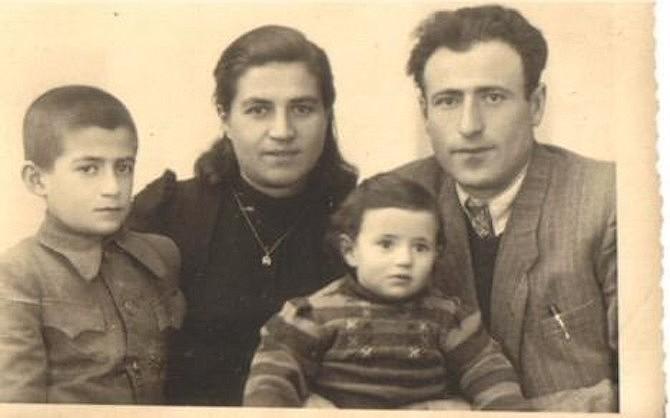 Holocaust survivor Sam Ponczak, left, with father Jacob, mother Sara and sister Giselle circa 1946 in Poland.