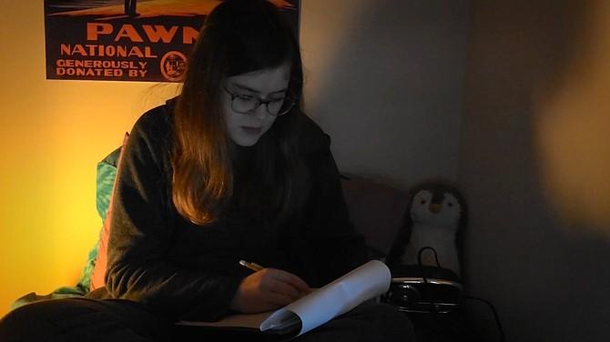 Zoe Brennan as Jane in Westfield High School's production of '4 A.M.'
