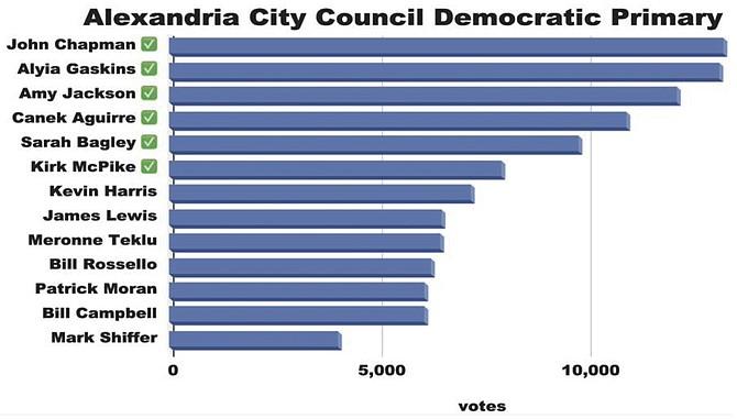 Alexandria City Council Democratic Primary.
