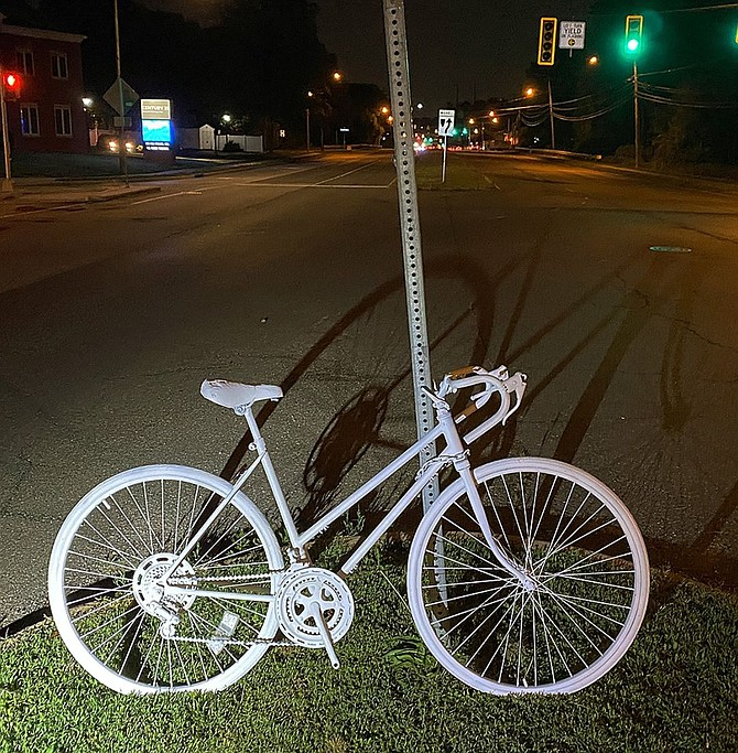 FABB: the injuries and deaths of vulnerable road users are preventable; Fairfax County should act with urgency to adopt much-needed safety measures. Ghost bike roadside memorials like this are placed where a cyclist has been killed or severely injured, usually by the driver of a motor vehicle.