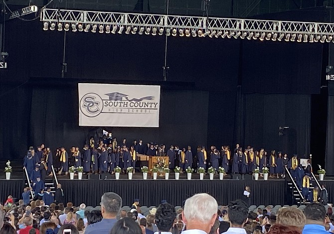South County High School held a graduation ceremony on June 10 at Jiffy Lube Live.