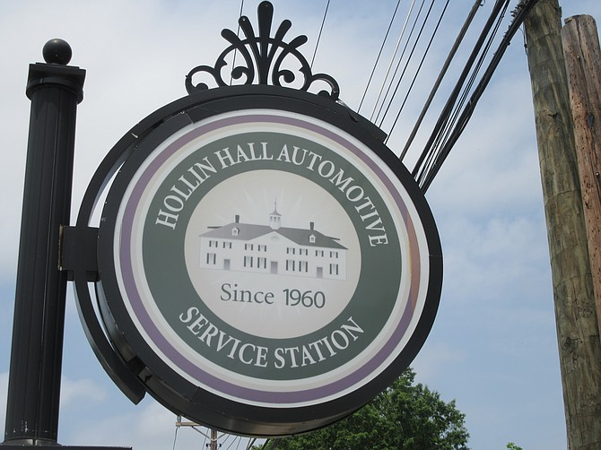 The station's sign is a familiar landmark to locals.