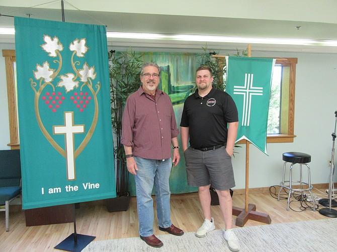 Rev. Keary Kincannon and Rev. Kameron Wilds in the Rising Hope sanctuary.