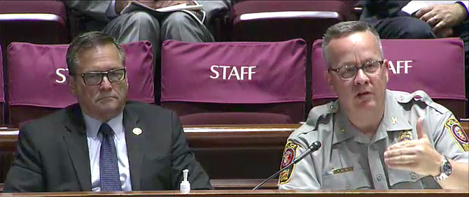 Deputy County Executive David Rohrer with Fairfax County Police Chief Kevin Davis.