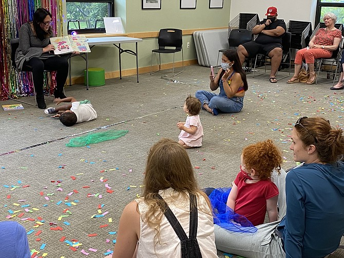 Drag Queen Storytime at Dolley Madison Library in McLean, co-hosted by McLean Community Center.