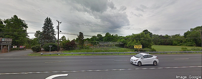 Location of the proposed Brightview Senior Living facility on Leesburg Pike, currently occupied by Wolf Trap Nursery.