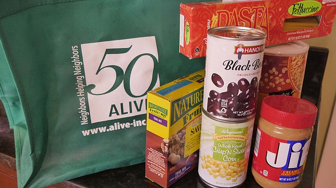 ALIVE! community food donations resume after COVID.