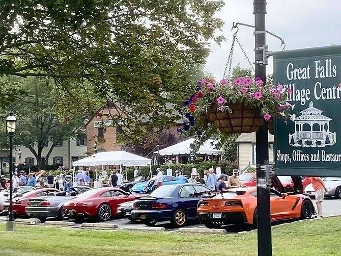 Great Falls Village Center is once again home to the popular Saturday morning Katie's Cars and Coffee.