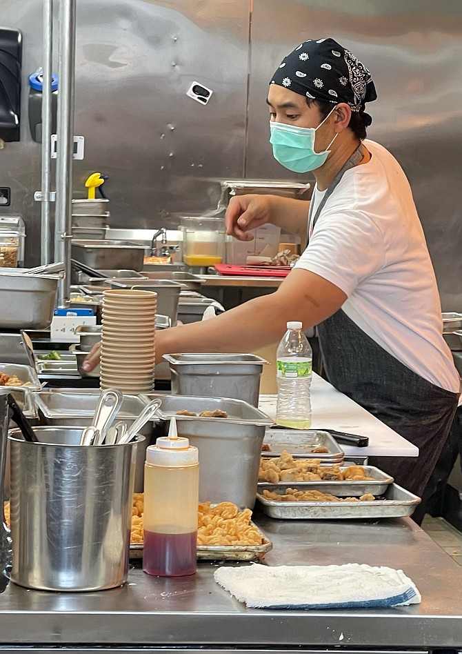Chefs orchestrate hands on, flavor intensive Chinese-American dishes, including the duck-fried rice where you will find tea-infused duck tucked into the dish.