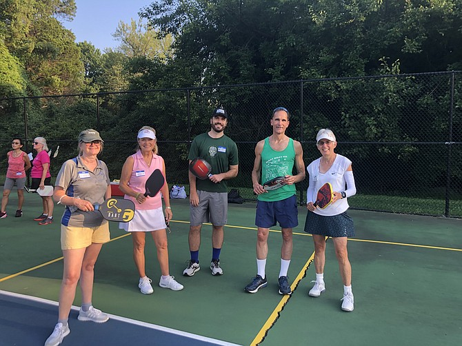 Mount Vernon Supervisor Dan Storck is on the court with the pickleball enthusiasts.