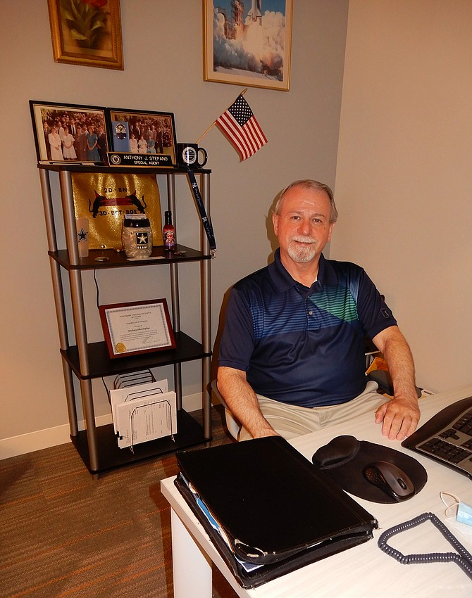 Tony Stefano of ALIASS is delighted to be working in this office.