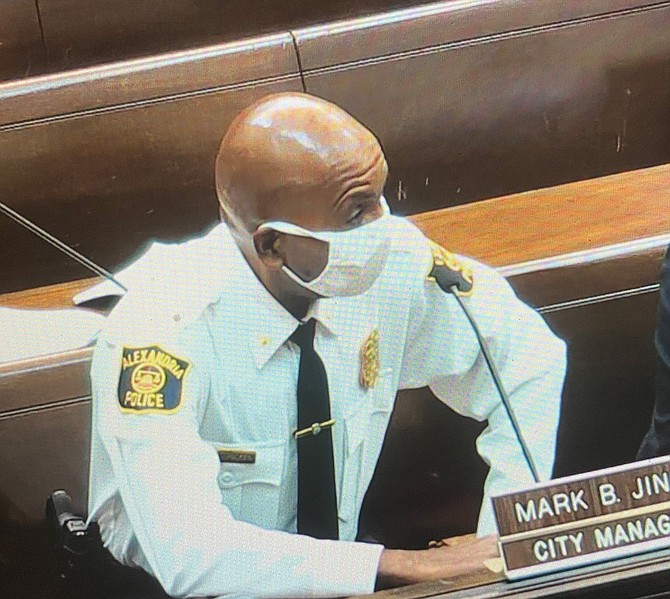 Acting Police Chief Don Hayes explains the training involved for School Resource Officers at the Oct. 12 City Council meeting.