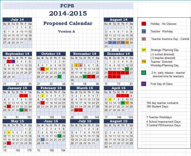 Fairfax County Public Schools Calendar 2019 16 School Calendar Changes Examined