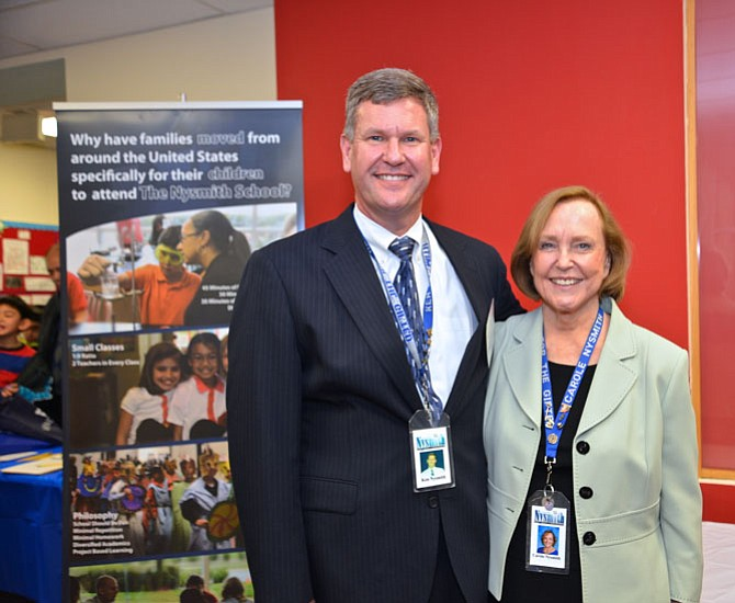 The Nysmith School Principal Ken Nysmith and school founder – and the principal's mom – Carole Nysmith welcome the public, sponsors, speakers, and exhibitors to the 2015 K-12 STEM Symposium of the National Capital Region.