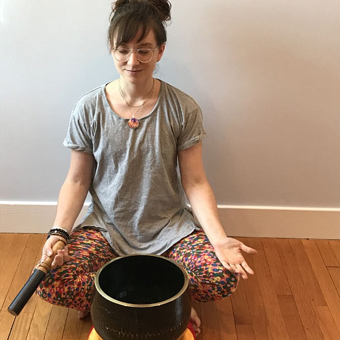 Kate Love of the Open Mind-Open Heart meditation group in Bethesda says that meditation can help reduce stress.