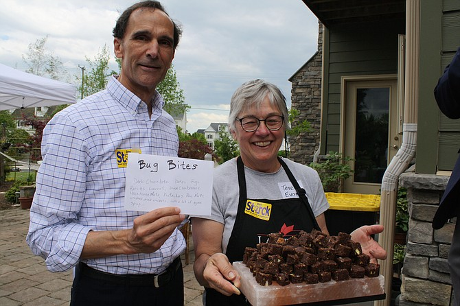 Cricket brownies were a highlight of Supervisor Dan Storck's earth day event.